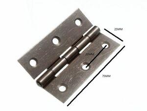 Scharniere Tür Tor Stahl Selbst Farbe 75mm 7.6cm + Schrauben 6 Paar