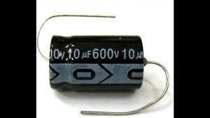 Valve-Tube-QTY-5-xNew-MIEC-10UF-600V-105C-Axial-Electro-Capacitors-650-surge