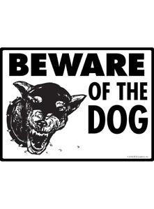 Details about Warning! Beware of Dog (Doberman) Aluminum Dog Sign - 12