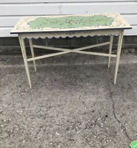 Euc 70 S Vntg Hand Painted Cottage Chic Table 30 T