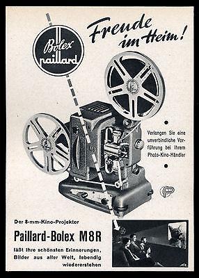 Alte Werbung Reklame 1952 Paillard-bolex M8r Der 8-mm-kino-projektor
