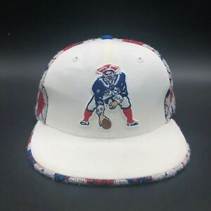Nfl Throwback Logo Nfl New England Patriots Football Hat Baseball Cap Size 7 5 Ebay