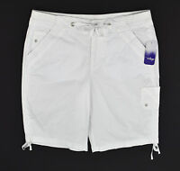 Great Northwest Indigo Womens White Knit Waist Ruche Ski Shorts Stretch Sz 8