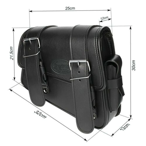Satteltasche 8L für Honda Rebel 500 schwarz rechts