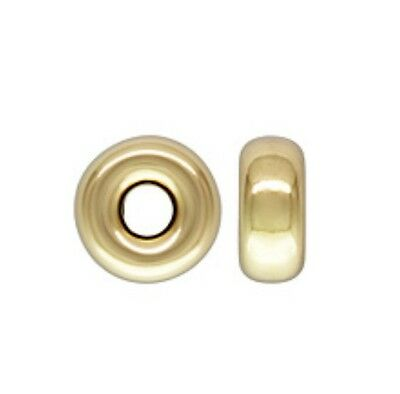 14k Gold Filled 6mm Roundel Spacer Beads 4pcs #6111-4