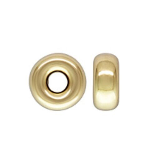 14k Gold Filled 4mm Roundel Spacer Beads 10pcs #6111-2