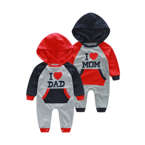 Toddler Baby Boys Girls Cartoon Print Hooded Romper Warm Jumpsuit Fall Outfits