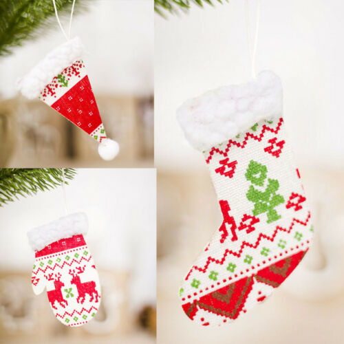 Small Hat Gloves Boots Christmas Tree Pendant Decor Wall Hanging Pendants Gifts