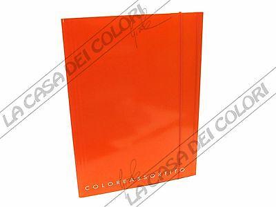 25x35 CARTELLETTA IN CARTONE RIGIDO CON ELASTICO FORMATO A4 BLU