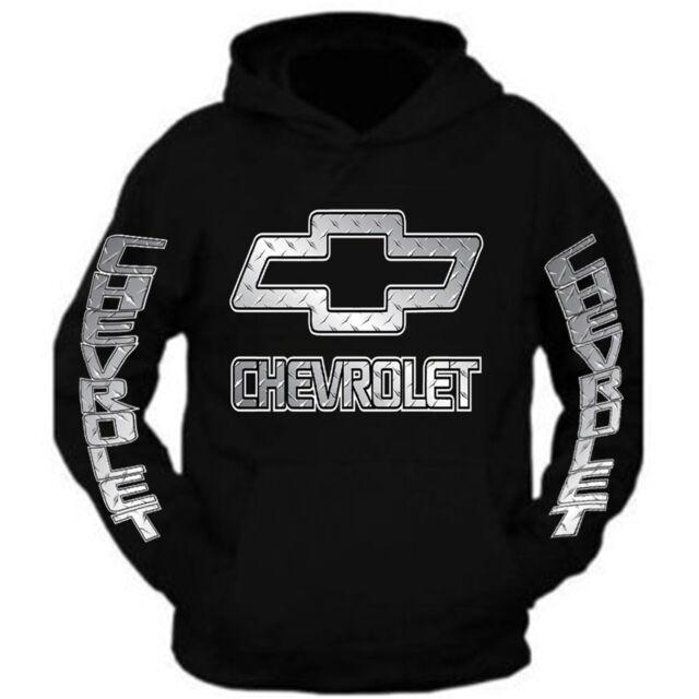 Chevrolet Mens Chevrolet Script Distressed Pullover Hoodie