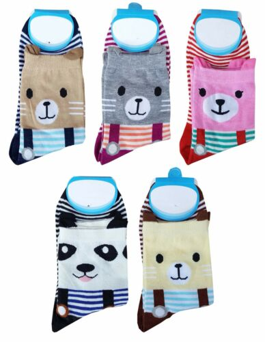 BLUE REEF Socks Ladies Womens Cute Pig Bear Dog Fun Novelty Ankle Socks UK 2-5