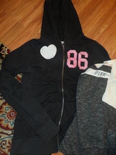 intera Pink Felpa Victoria's Secret Shirt Vs con cappuccio zip Top ~ cappuccio Medium con e wPTqdBxn