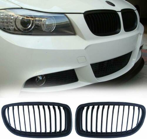 BMW E90 E91 4dr LCI 08-11 performance matte black front kidney grilles grille