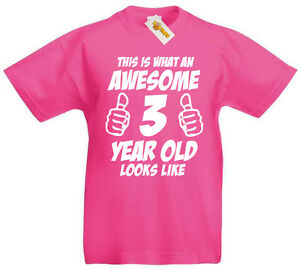 Awesome 3 Year Old T Shirt 3rd Birthday Gifts Gift Ideas For 3
