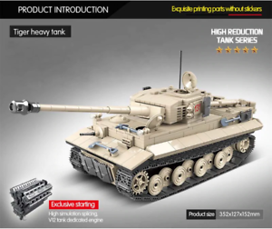 "Panzerkampfwagen VI ""Tiger"", 2. Weltkrieg Panzer Bausatz, (LEGO kompatibel)"