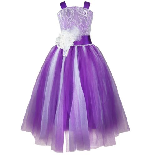 Flower Girls Princess Dress Kid Party Pageant Wedding Bridesmaid Tutu Dresses
