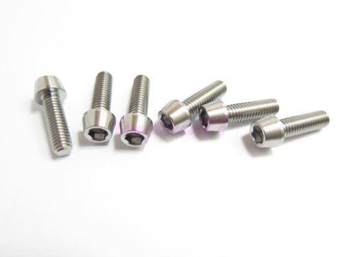 Titanium M6 x 20mm Tapered Ti Bolt Taper Hex Allen Socket Head Screw GR5