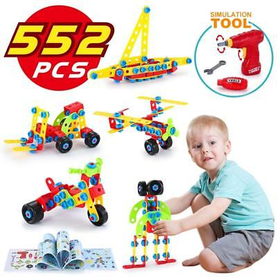 Educational construction Building Blocks Electric Drill Builders Toy for Boys UK