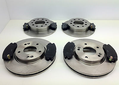 HYUNDAI COUPE 2002-2010 1.6 2.0 2.7 TWO REAR BRAKE DISCS AND PADS SET 258mm NEW