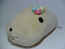 Kapibarasan White Capybara w/ Flower Bouqet 35cm Plush Kawaii San-X Rilakkuma