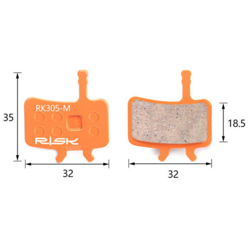 bicycle disc brake pad all-metal instant disc brake pads-Gift spring clip+latch