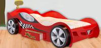 Formula 1 Racing Kid Children Racking Car Bed Furniture Blue Red Black W Storage