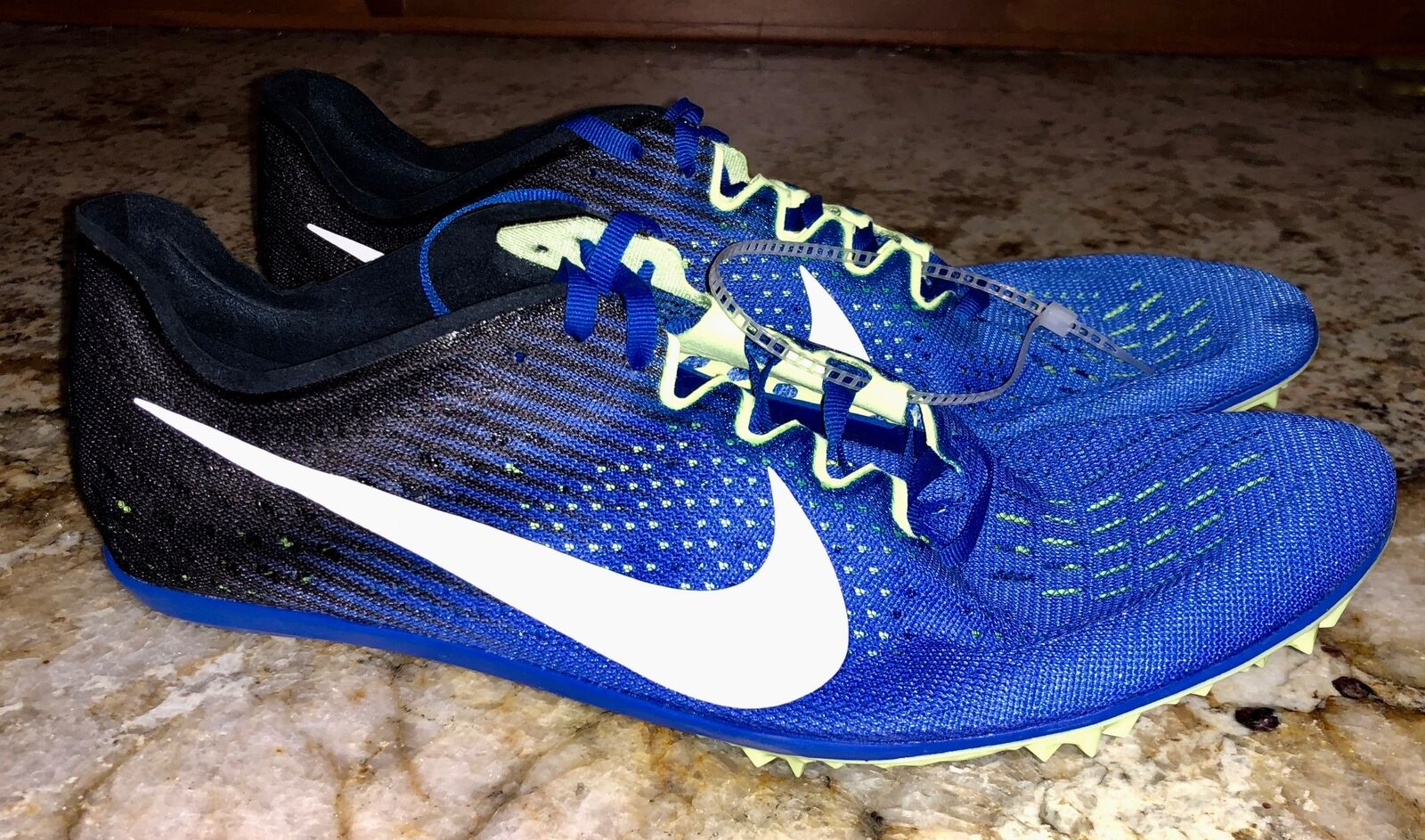NIKE Zoom Victory Victory Victory 3 Cobalt bluee White Mid Distance Track Spikes shoes Mens Sz 12 a69cec