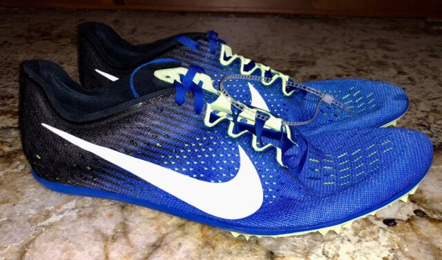 a042a199cd5b NIKE Zoom Victory 3 Cobalt Blue White Mid Distance Track Spikes Shoes Mens  Sz 12
