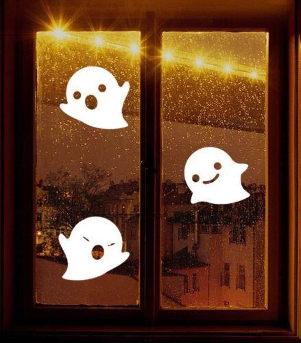 3 grands fantômes halloween décoration vinyle autocollants fenêtre enfants voiture enfant autocollant