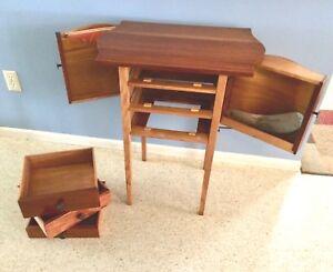 Art Deco Sewing Cabinet Two Tone Maple, American Trails Art Deco Writing Desk