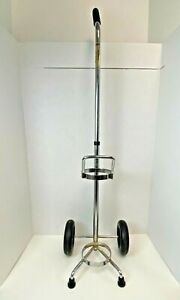 Roscoe Medical 1019697 Oxygen Tank Holder Cart with Black Wheels