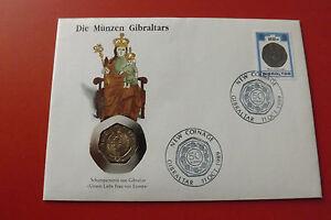 Numisbrief Gibraltar Mit 20 Pence 1990 Münzen Gibraltars Alb14