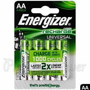 4-x-pilas-AA-recargables-Energizer-UNIVERSAL-1300-mAh-ACCU-NiMH-Paquete-de-4