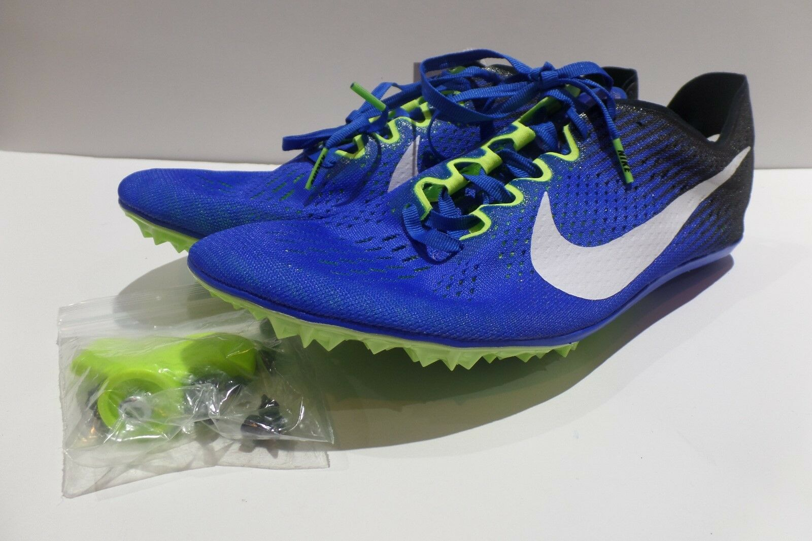 Nike Zoom Victory 3 Sz 12 Track In esecuzione esecuzione esecuzione Spikes bluVolt Nero bianca   30fa4c