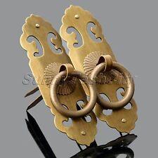 Vintage Furniture Cabinet Hardware Brass Door Lock Latch Knocker Pull Knobs