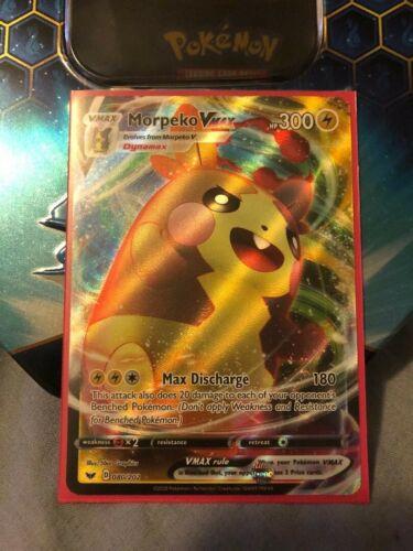 Pokemon TCG Sword /& Shield 080//202 Morpeko VMAX Rare Card NM!