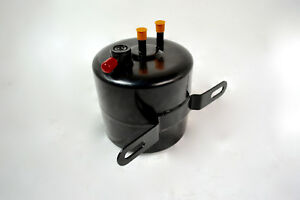 Black Vacuum Canister Reservoir Brake Booster Can with Check