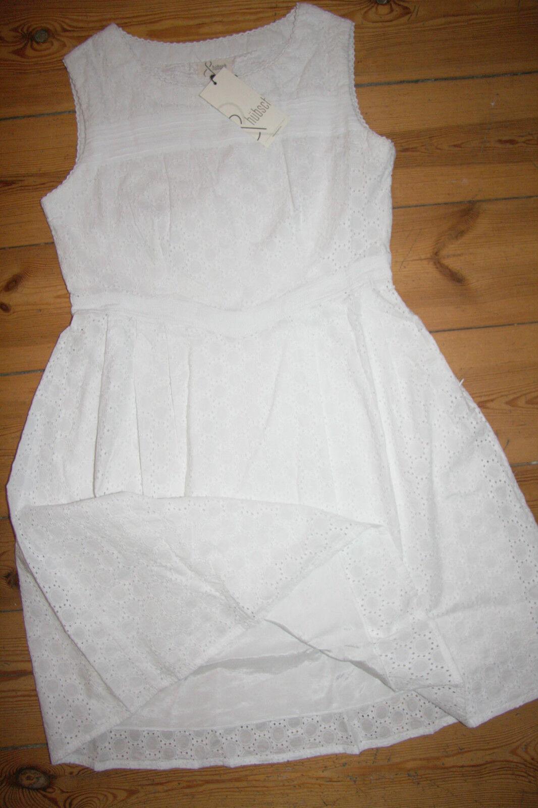 &hübsch  Dress Circle Anglaise Kleid  Dress Cotton Weiß Größe  L Neu