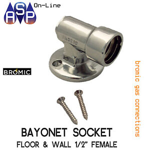 BROMIC-1-2-034-FEMALE-GAS-BAYONET-FLOOR-amp-WALL-SOCKET-FOR-BBQ-AND-SPACE-HEATERS