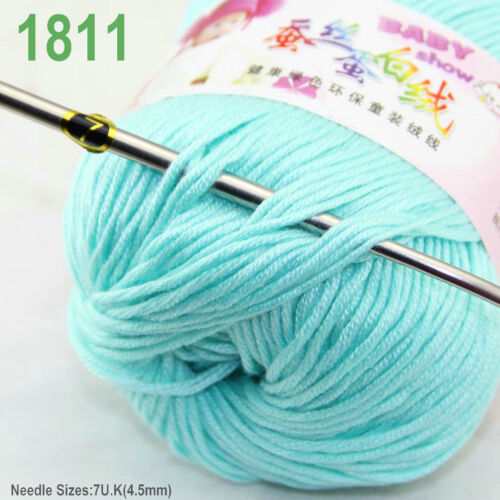 Sale 6 ballsx 50gr DK Baby Soft Cashmere Silk Wool hand knitting Crochet Yarn 11
