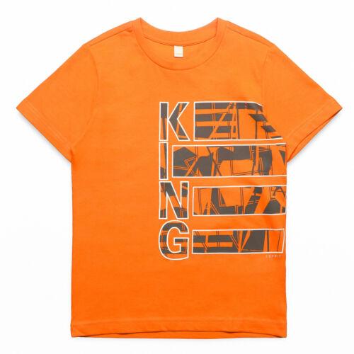 Shirt mit KING Motiv in orange 767 RN1041604 ESPRIT Jungen T-Shirt