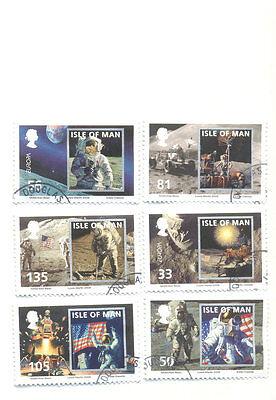 Isle of Man-Moon Landing set of 6 fine used