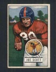 1951 Bowman #128 Joe Scott EX/EX+ NY Giants 100409