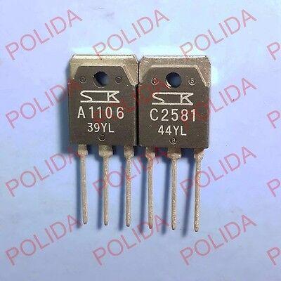 1pairs or 2PCS Transistor SANKEN TO-3P 2SA1106//2SC2581 A1106//C2581