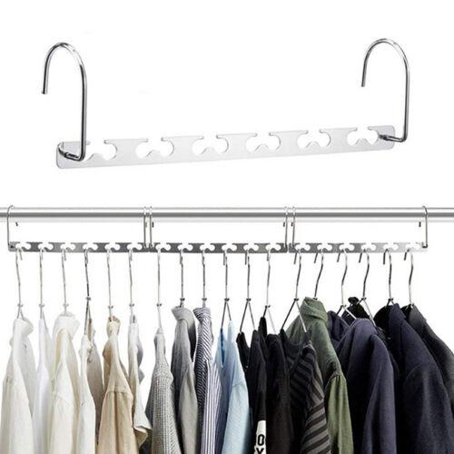 Pack of 2 Magic Hangers Closet Space Saving Wardrobe Clothing Organizer Shan