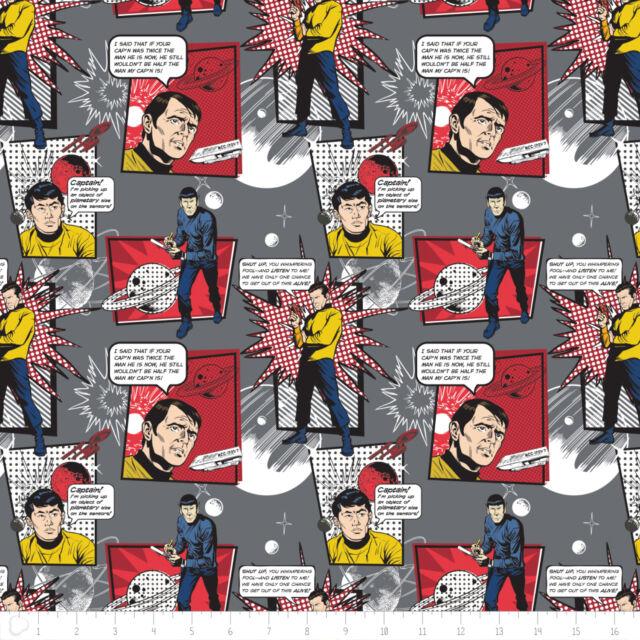 Fat Quarter Star Trek Galaxy Pop Quotes On Lt Yellow 100/% Cotton Quilting Fabric