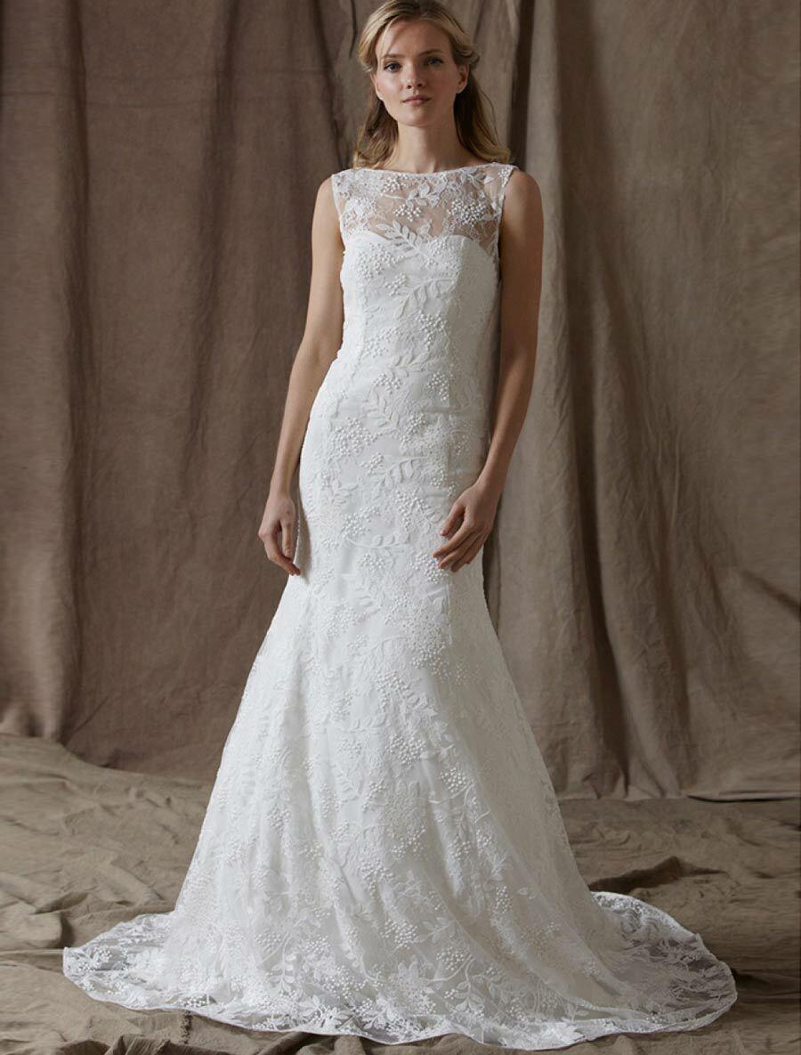 NEW Lela Rose The Estate Lace Wedding Dress Sleeveless Aline Train 10 ,995