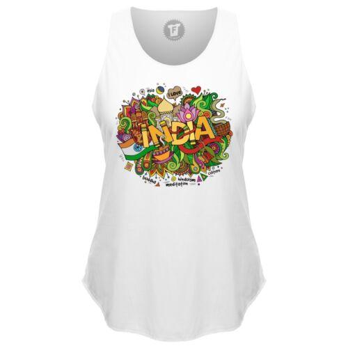 India Yoga Meditation Loose Tank Top runder Bund Sport Shirt Frauen FABTEE