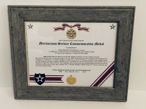 Military-Commemorative-MERITORIOUS-SERVICE-COMMEMORATIVE-MEDAL-CERTIFICATE