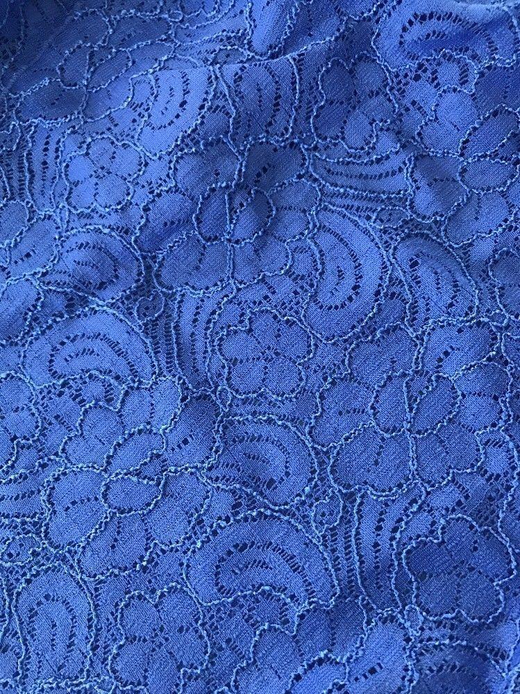 SMALL LuLaRoe SHIRLEY floral paisley LACE COLBALT blueE solid kimono wrap NWT S